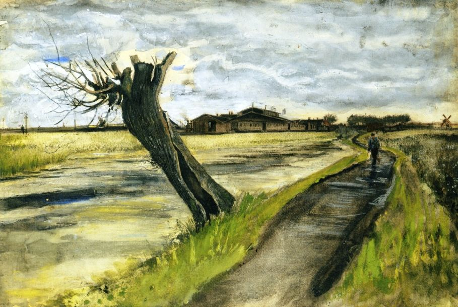 Pollard Willow Vincent Van Gogh 1882 Private Collection