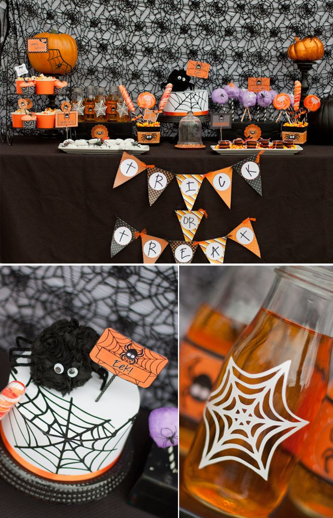 Spooky Cute Halloween Party in Black and Orange! haunted house - cute halloween diy decorations