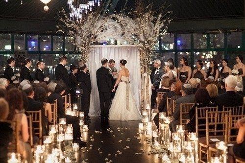 Indoor Ceremony Inspirations: PHOTOS: Indoor Garden Wedding Ceremonies