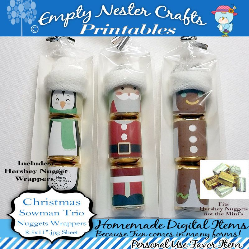 Hershey Nuggets Candy Bar Wrapper, Christmas - Santa trio for ...
