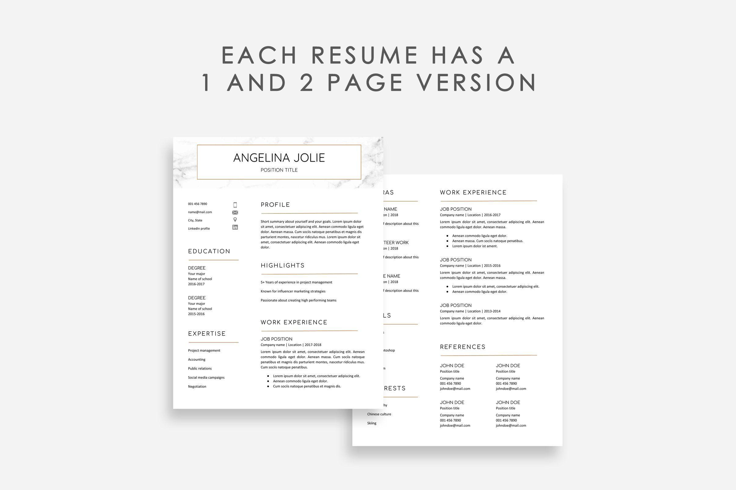 Resume Template Google Docs 10x Resume template, Unique