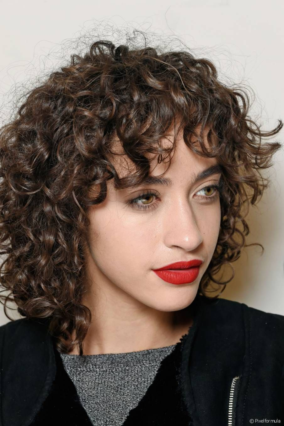 curly bangs - google