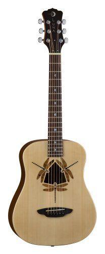 Luna Safari Series Dragonfly 3/4-Size Travel Acoustic Guitar - Natural