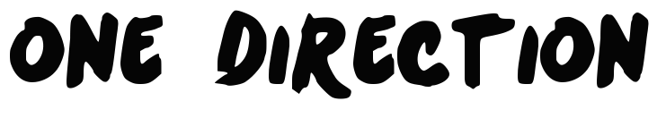One Direction Font And One Direction Logo One Direction Logo One Direction Directions