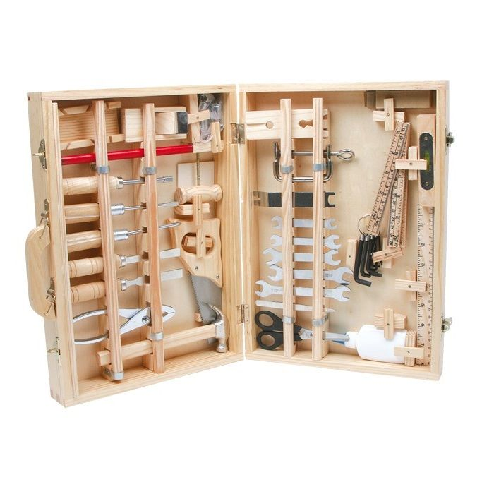 caja de profesional de madera de juguete para nios este