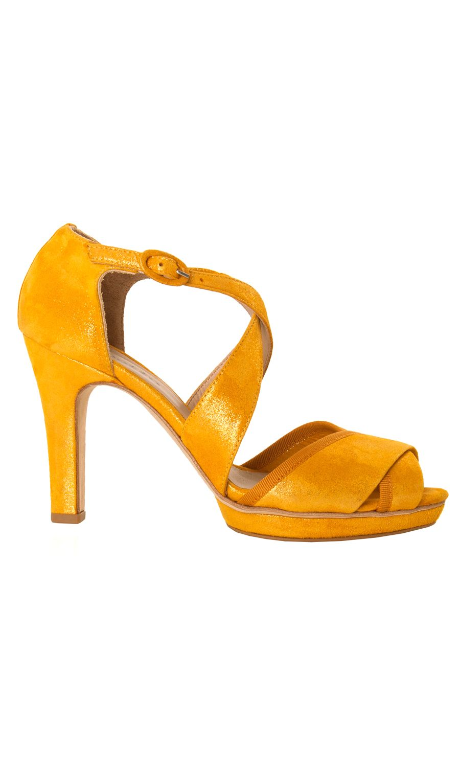 Repetto metallic goatskin oil orange suede suzanne #sandal - #ss13 www.sansovinomoda.it