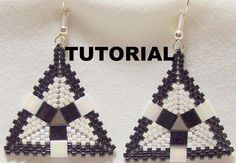 *P Tutorial: Peyote Triangle Tila Beaded Earrings