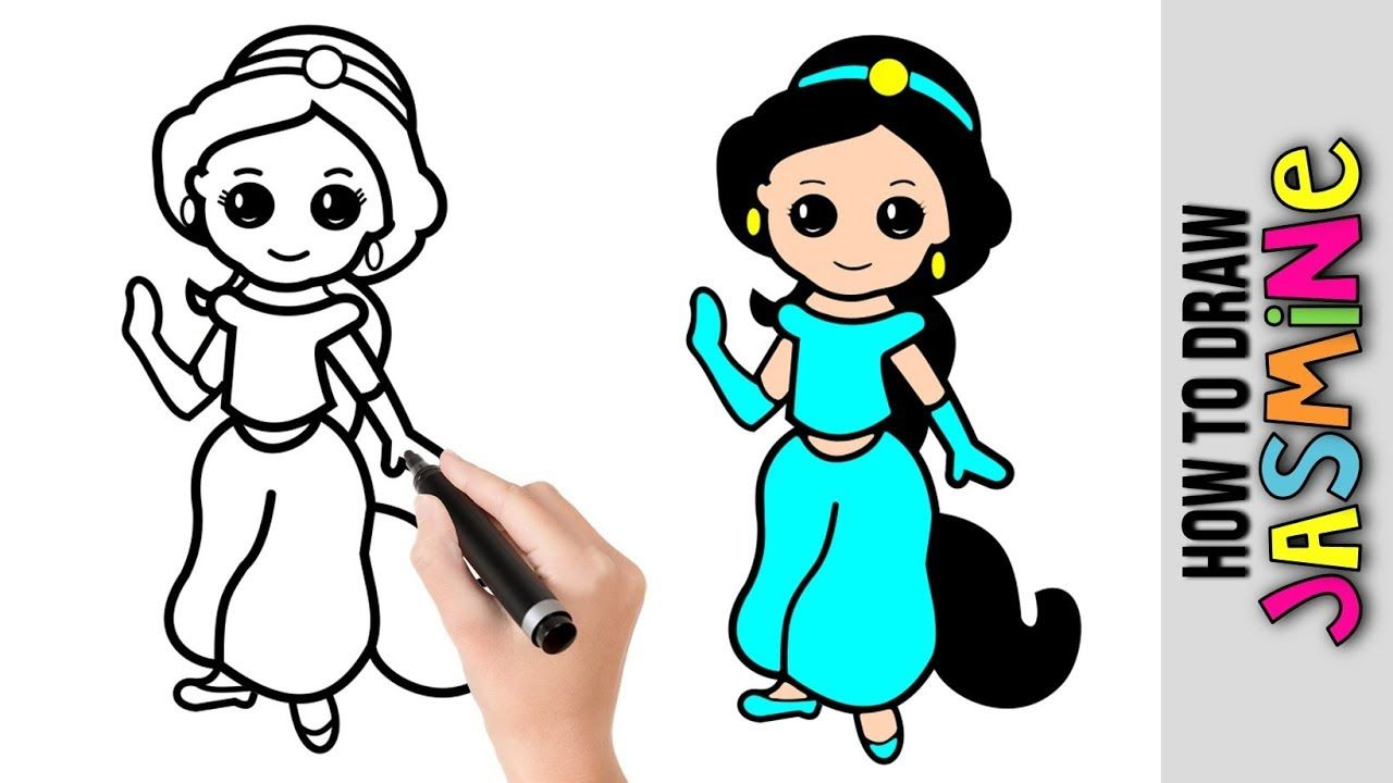 How To Draw Jasmine From Aladdin Disney Princess Easy Pictures To Dr In 2020 Cute Easy Drawings Disney Princess Drawings Easy Drawings