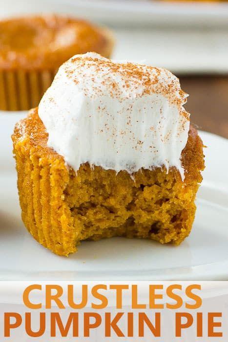 Gluten Free Crustless Pumpkin Pie Cupcakes Dairy Free Recipe
