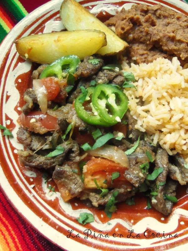Steak ranchero con papas steak mexicans and food dishes forumfinder Image collections