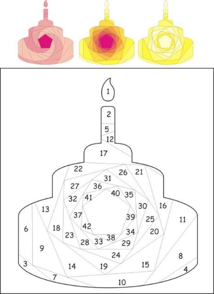 Birthday cake iris folding pattern Iris Folding Cards - birthday cake card template