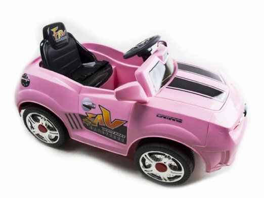 Kids Pink Camaro Style Ride On Rc Car Remote Control Electric Wheels Mp3 Toys