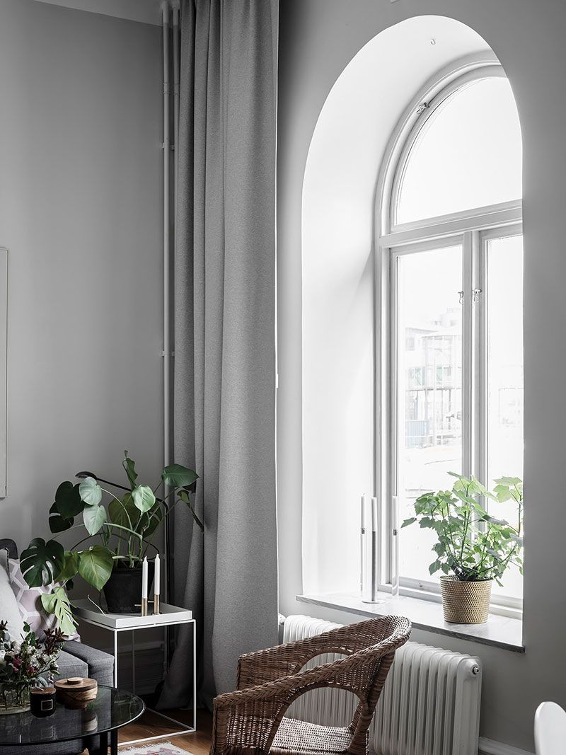 Mesmerizing Window Design For Small House To Be Inspired By: Small But Gorgeous: 30 Sqm Apartment With High Ceilings And Arched Windows In Goteborg In 2020