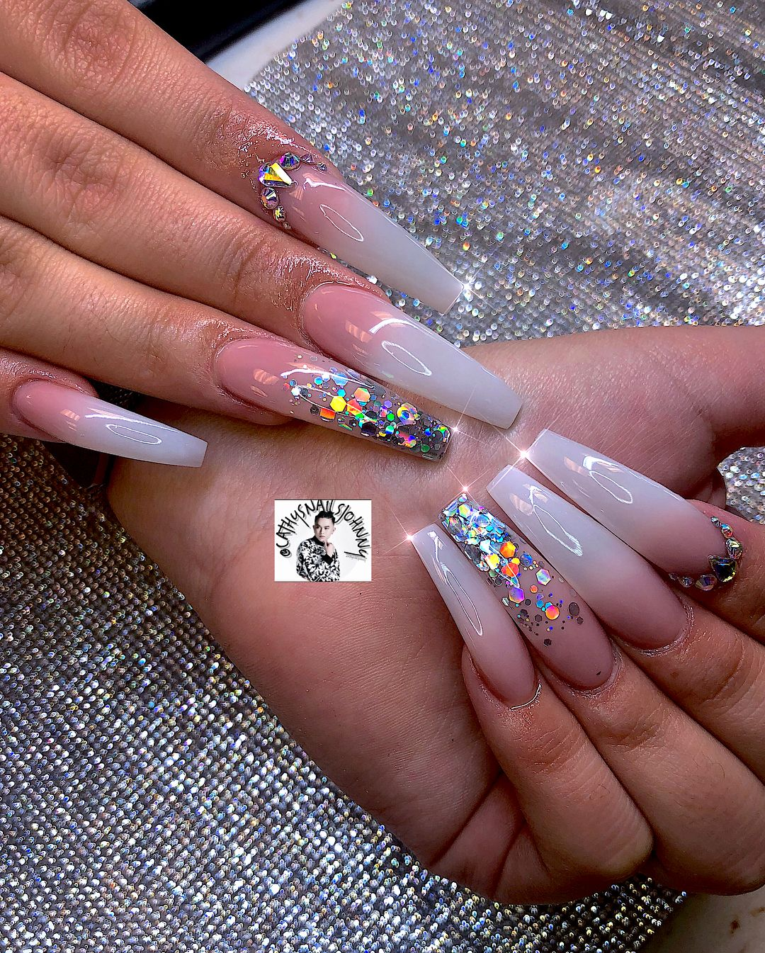 Image May Contain One Or More People And Closeup Coffin Nails Designs Pretty Acrylic Nails Long Acrylic Nails