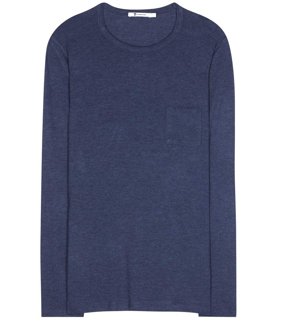 T BY ALEXANDER WANG Jersey T-Shirt. #tbyalexanderwang #cloth #tops