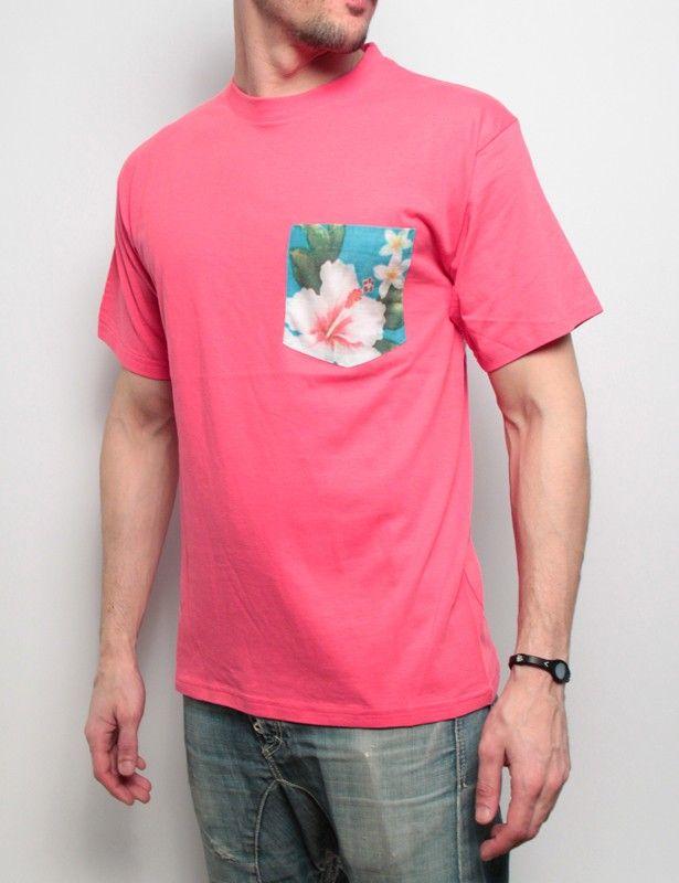 Amaranto t-shirt Taschino a Fiori rosa