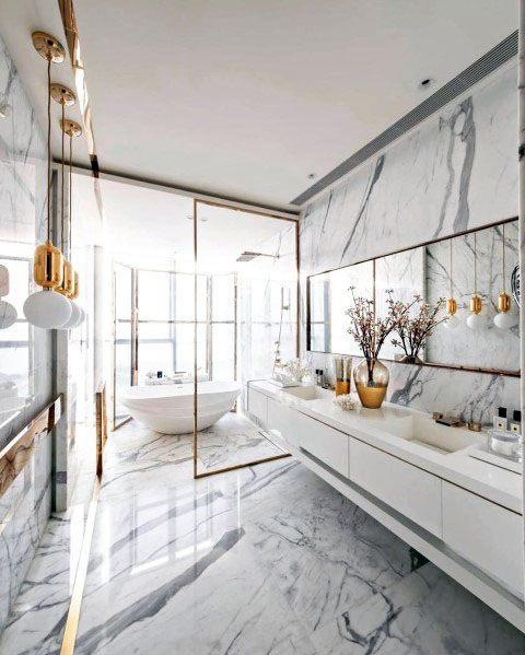 Top 70 Best Marble Bathroom Ideas Luxury Stone Interiors In 2020 Interior Design Dining Bathroom Interior Design Home Interior Design