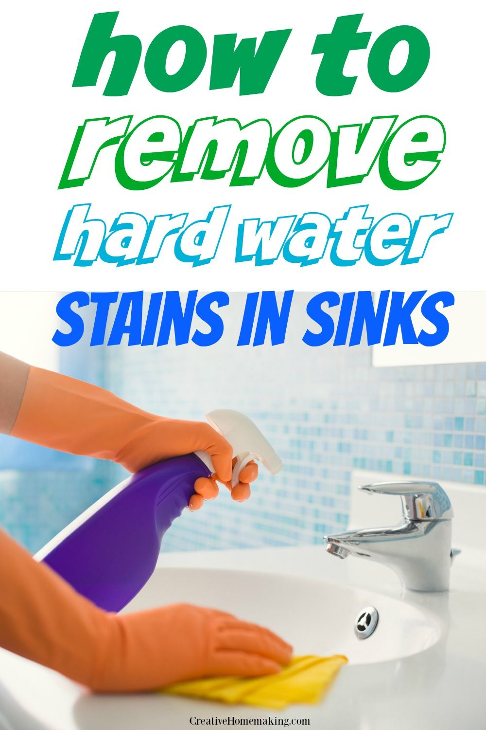 Removing Hard Water Stains in Sinks Hard water stains