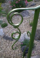 Best Swirl Garden Handrail End Detail Wrought Iron Stairs 400 x 300