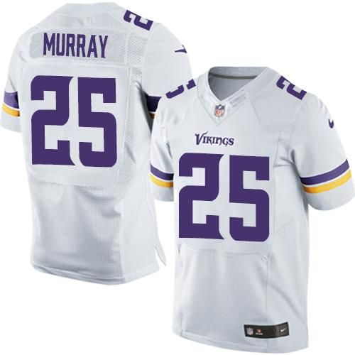 purchase cheap 1042c 20c14 Nike Vikings #25 Latavius Murray White Men's Stitched NFL ...