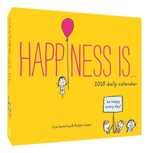 Happiness Is    2018 Daily Calendar Bookaholic Pinterest - daily calendar