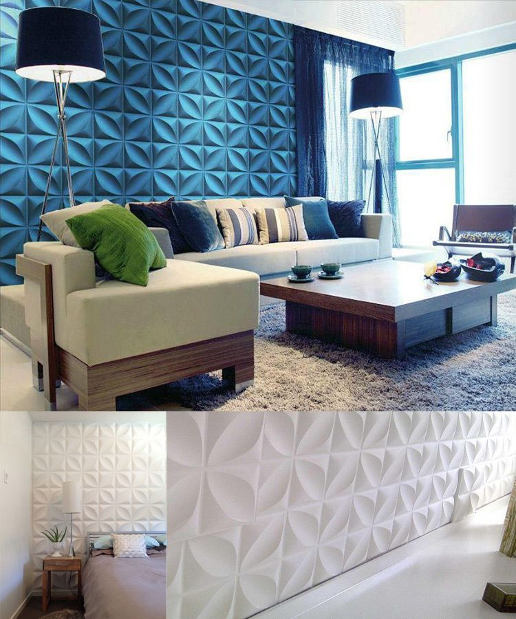 Modern Home Decor Of Wall With 3d Pvc Wall Panel Wall Design Ideas