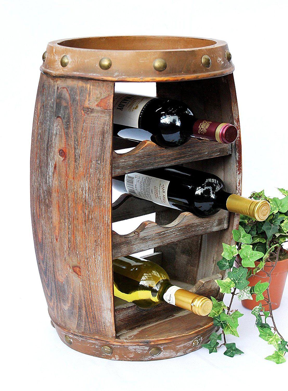 DanDiBo Weinregal Weinfass Holz Flaschenständer 1555 Bar 50 cm für 8 ...