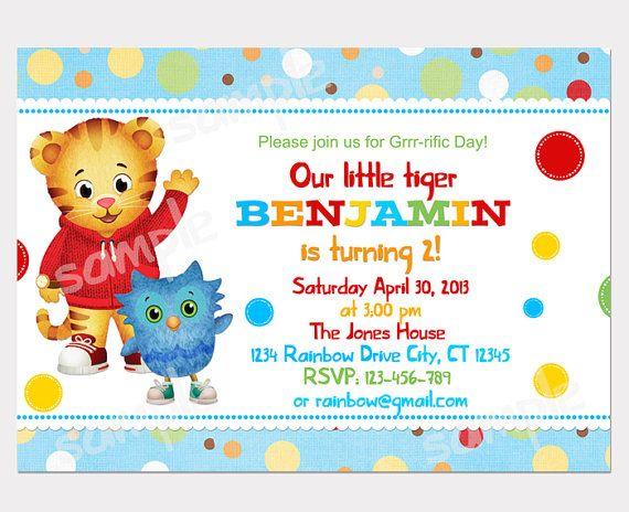 Daniel Tigers Neighborhood Digital Birthday Party Invitation DIY
