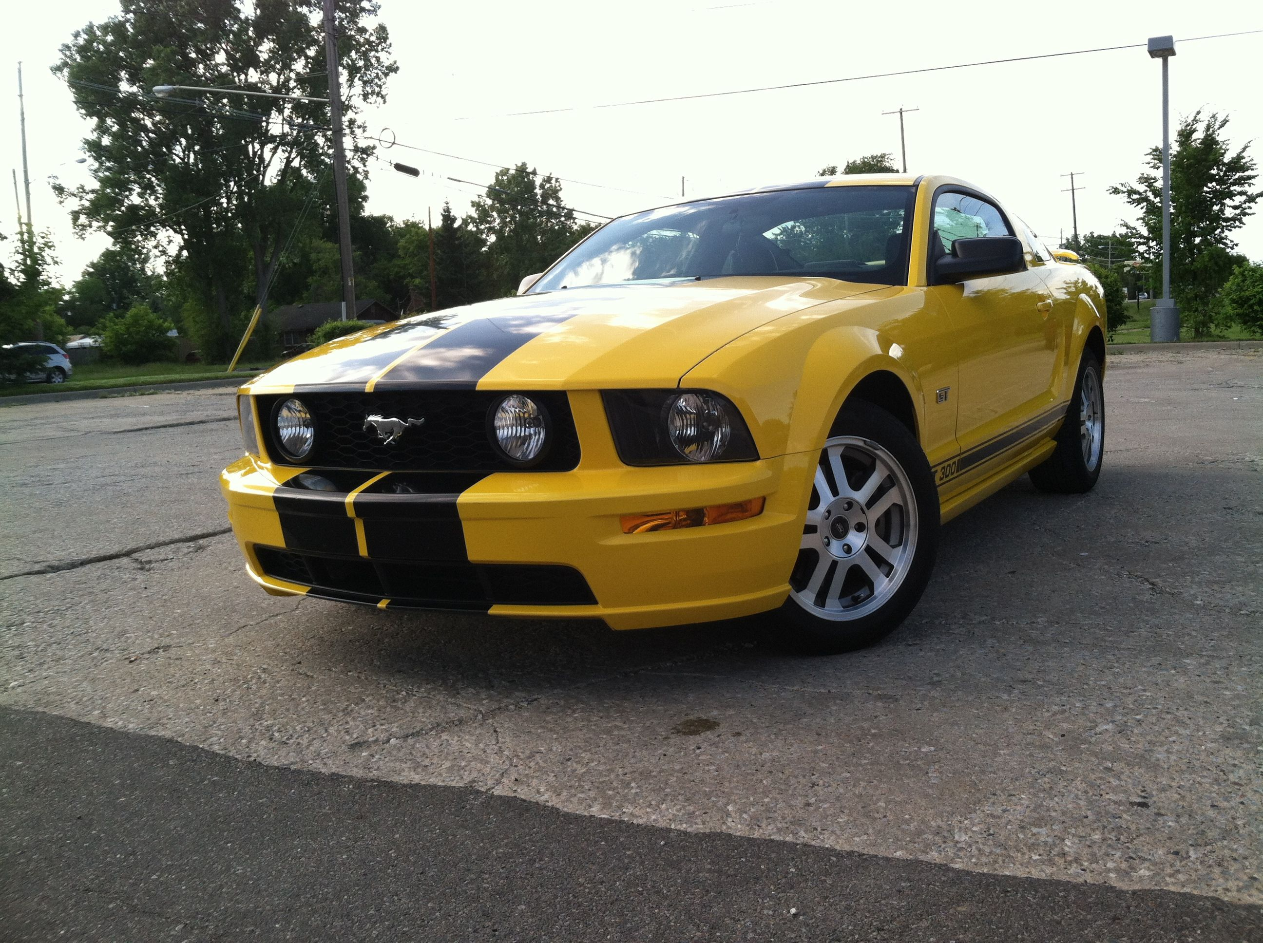 Yellow Mustang Gt With Black Stripes Yellow Mustang Mustang
