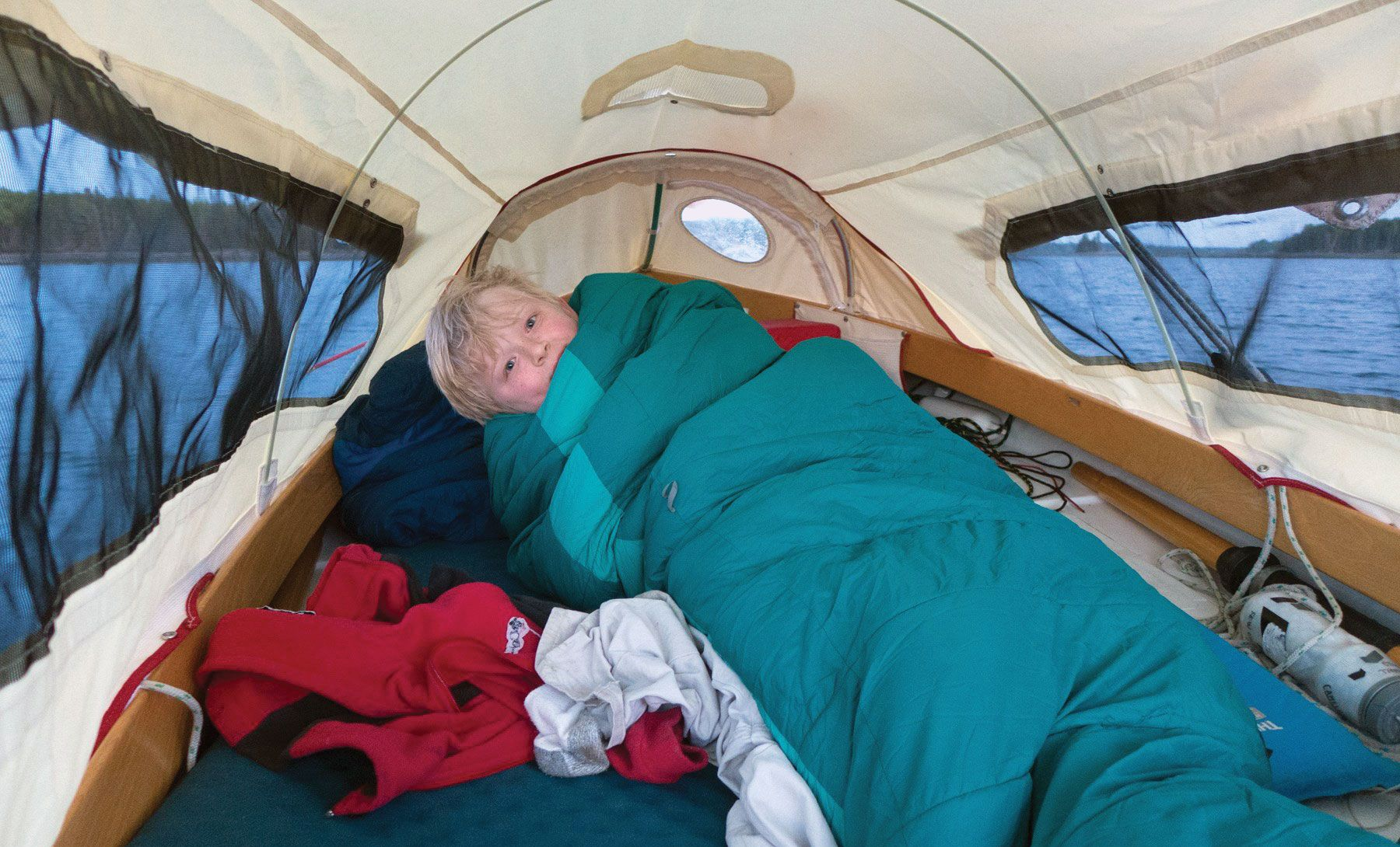 A tent on a Norseboat can seem both cozy and roomy. | Boom Tents and Dinghy Cruising in 2019 ...