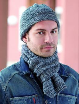 45da84c0c22d60 Gratisanleitung Männer Mütze und Schal: Modische Mütze und Schal für Männer.