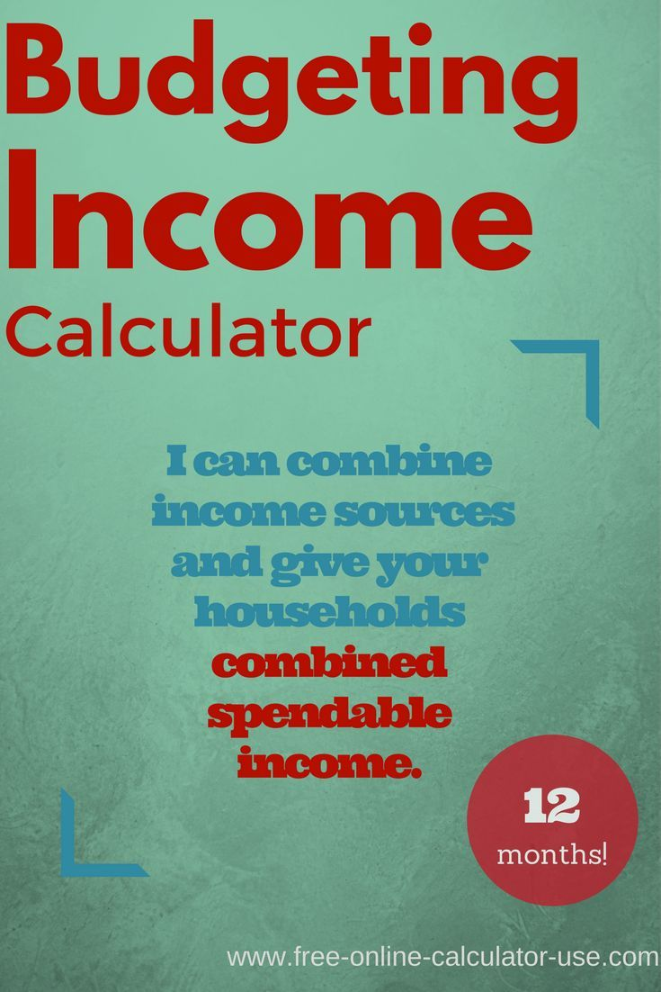 budget income calculator