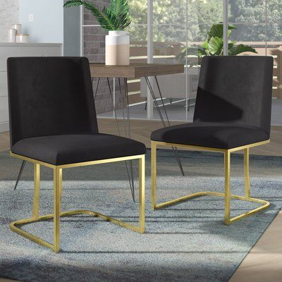 Foundstone Noah Seppich Upholstered Dining Chair Leg Colour Gold