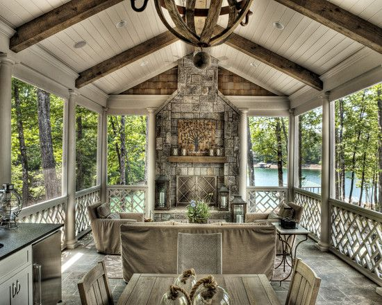 Open back porch design pictures remodel decor and ideas for Covered porch decorating ideas