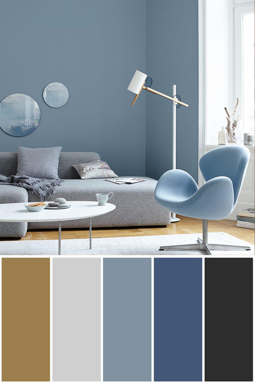 Alpina Wandfarbe Feine Farben 2 5 L Ruhe Des Nordens No 14 Stilles Graublau Matt In 2020 Blaue Wandfarbe Wandfarbe Graublau Wandfarbe Wohnzimmer