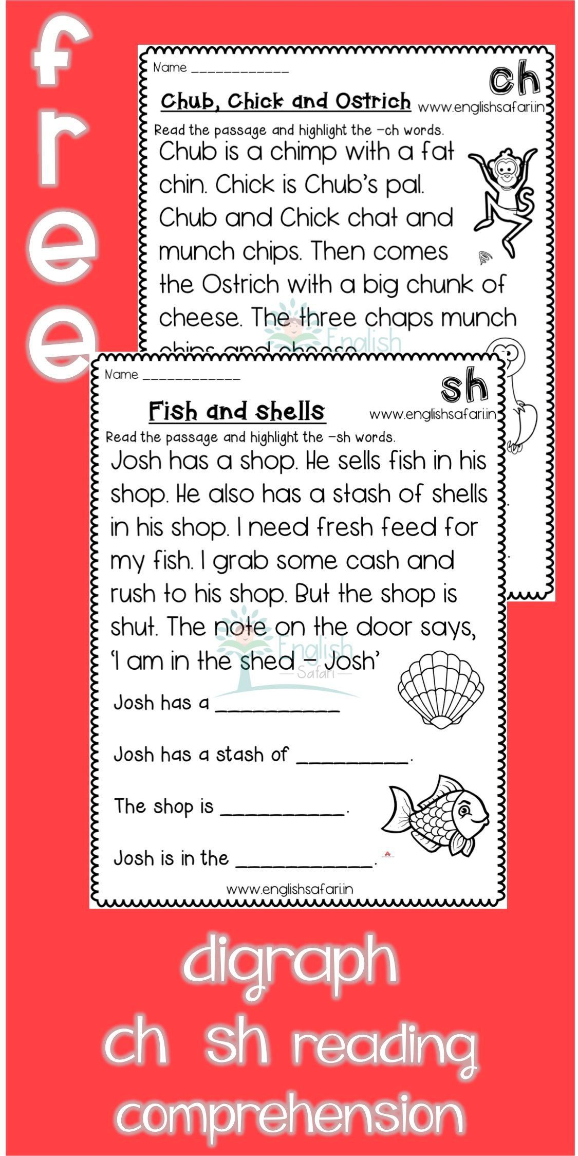 Free Digraphs Reading Comprehension Www Worksheetsenglish Com In 2021 Reading Comprehension Phonics Reading Ch Words [ 2249 x 1125 Pixel ]