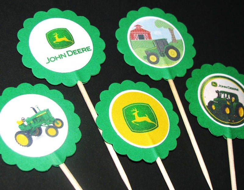 John Deere Cupcake Toppers Or For Decoration Party Ideas John