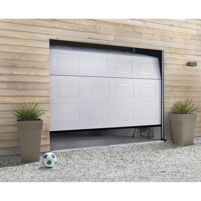 Porte De Garage Sectionnelle Motorisee Hormann H 200 X L 240 Cm Porte De Garage Sectionnelle Porte Garage Garage