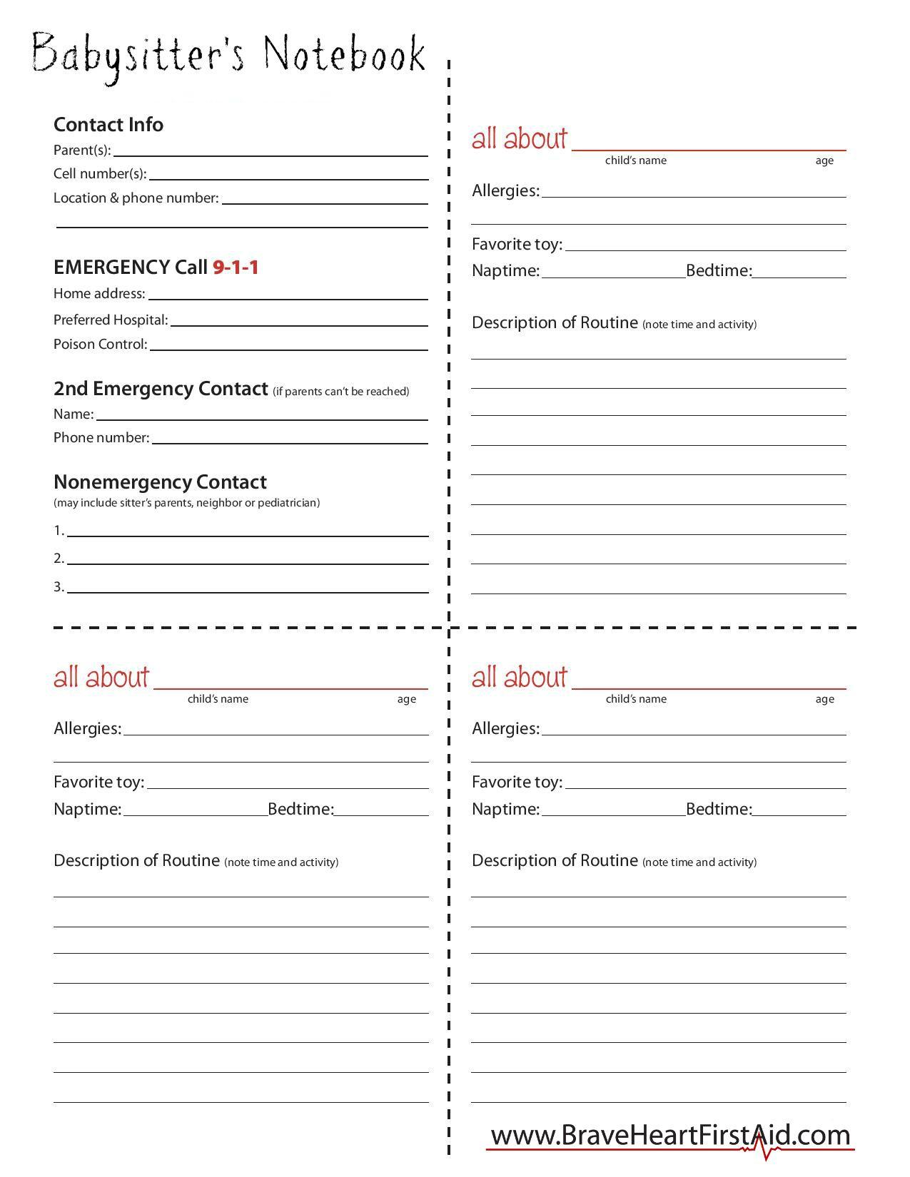Worksheets Babysitting Worksheets Cheatslist Free Worksheets For Kids Amp Printable