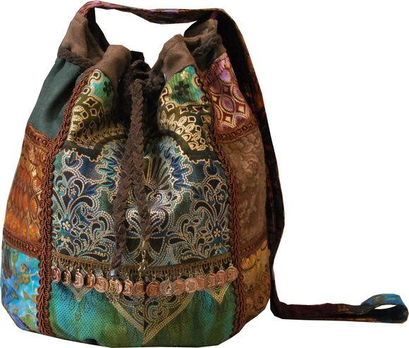 7c8950175 Bolsa saco estilo década de 70. O novo hippie. A moda Gypsy. Bolsa ...