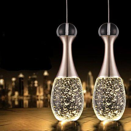 Jahrgang pendelleuchte moderne led glas kristall blase - moderne kreative esszimmer