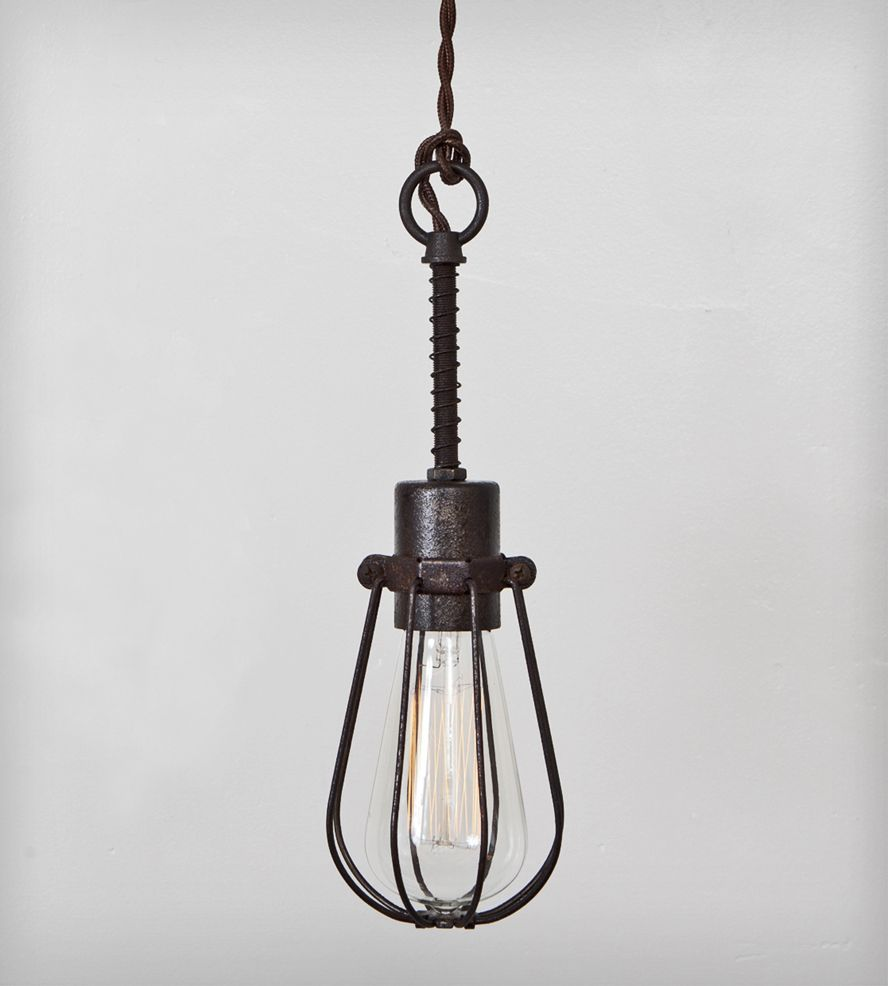 Industrial Oval Cage Pendant Light | Pendant lighting, Industrial ...