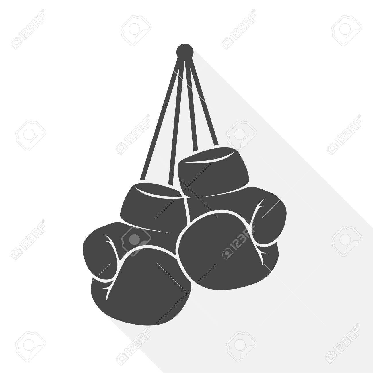 Boxing Gloves Icon Flat Graphic Design Vector Illustration