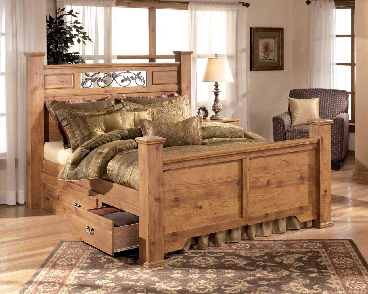 Bedroom Furniture With Storage Under Bed Pine bedroom