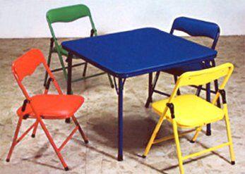 Children\'s Folding Table & Folding Chairs Furniture Set Bracelet ...