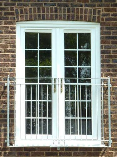 White French Doors With Georgian Bars For Juliet Balcony