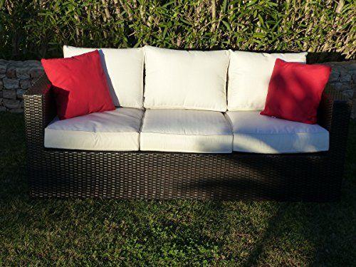 Antigua 3 seater sofa - Coffee