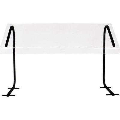 "Buffet Enhancements Portable Table Top Sneeze Guard Size: 28"" H x 36"" W x 19"" D, Leg Finish: Black"