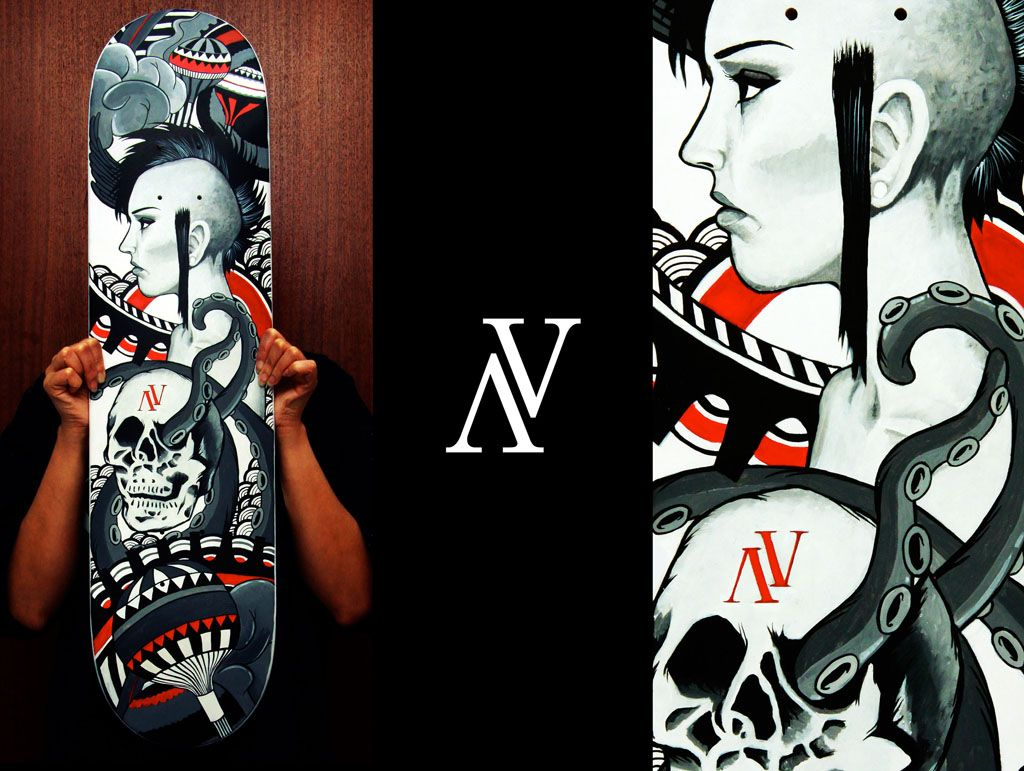 Custom Skateboard Deck III by prettymonkey26.deviantart.com on @deviantART