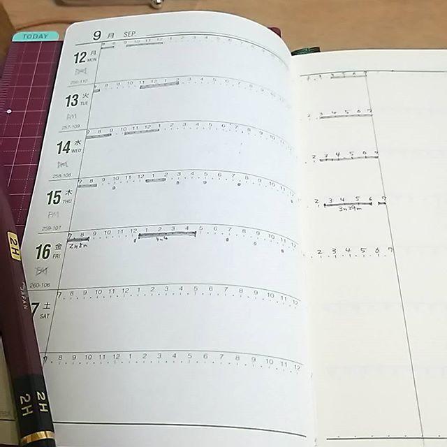 能率手帳でライフログ書けないこともない。睡眠と食事と予定が記入できればいいのである意味十分なんだけど…うーん。 #能率手帳